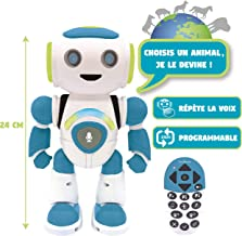 Lexibook Powerman Jr. ROB20FR Intelligent Robot That Plays in Thoughts Toy for Boys and Girls, Dance, Play, Animals, Programmable STEM, Green/Blue,