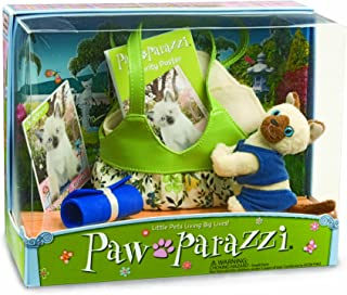 Pawparazzi Soft Toy Pet Cat Karma with Carrying Bag