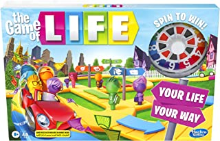 Hasbro The Game Of Life Game, Family Board Game For 2 to 4 Players, Indoor Game For Kids Ages 8 And Up, Pegs Come In 6 Col...