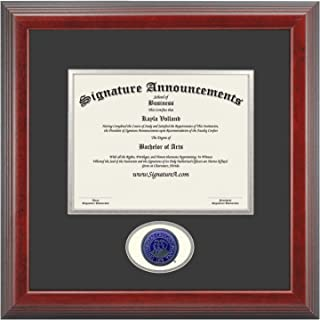 Signature Announcements Creighton University (CU) Doctorate Graduation Diploma Frame with Sculpted Foil Seal (Cherry, 16 x 16)