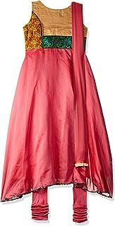 SOCH Women's cotton anarkali Salwar Suit Set (NC CD 1793-BEIGE-CORAL_ Beige_ X-Large)