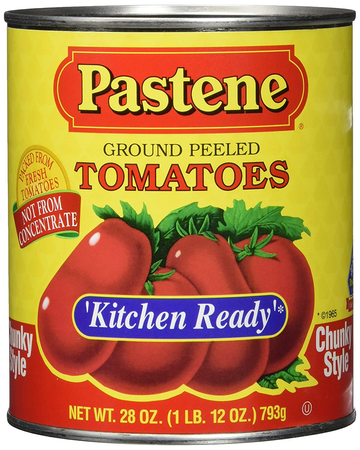 Pastene Kitchen Ready Chunky Ground P Peeled 70% OFF Outlet High quality Tomatoes Ounce 28