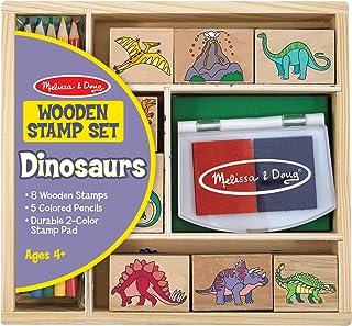 Melissa & Doug Dinosaur Stamp Set | Arts & Crafts | Stamp Set & Stencils | 4+ | Present till pojke eller flicka
