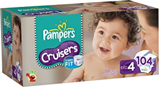 Pampers Cruisers Diapers Value Pack Size 4 104 Count