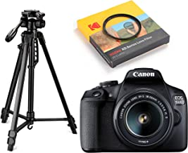 Canon EOS 1500D 24.1 Digital SLR Camera (Black) with EF S18-55 is II Lens, 16GB Card and Carry Case + Digitek DTR 550LW Li...