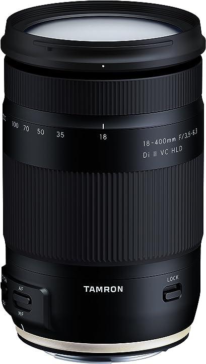 Obiettivo per canon, 18-400mm f/3,5-6,3 di ii vc hld, nero tamron B028E