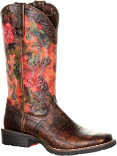 Mustang Women's Faux Exotic Western Pull-on Boot
