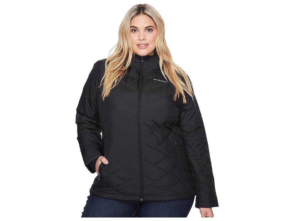 Columbia Plus Size Heavenly Hooded Jacket (Black) Women