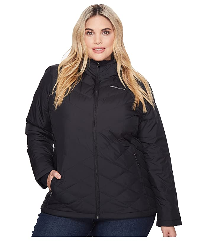 Columbia Plus Size Heavenly Hooded Jacket (Black) Women