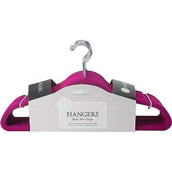 Fuchsia Simplify 25 Pack Velvet Hangers
