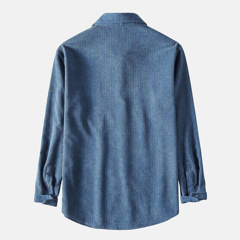 DZQUY Men's Linen Cotton Blend Henley Shirt Roll-up Long Sleeve Basic Band Collar Plain Tee Dyed Gradient Cotton Shirt