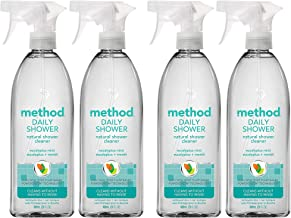 Method Naturally Derived Daily Shower Cleaner Spray, Eucalyptus Mint, 28 Ounce (4 pack)