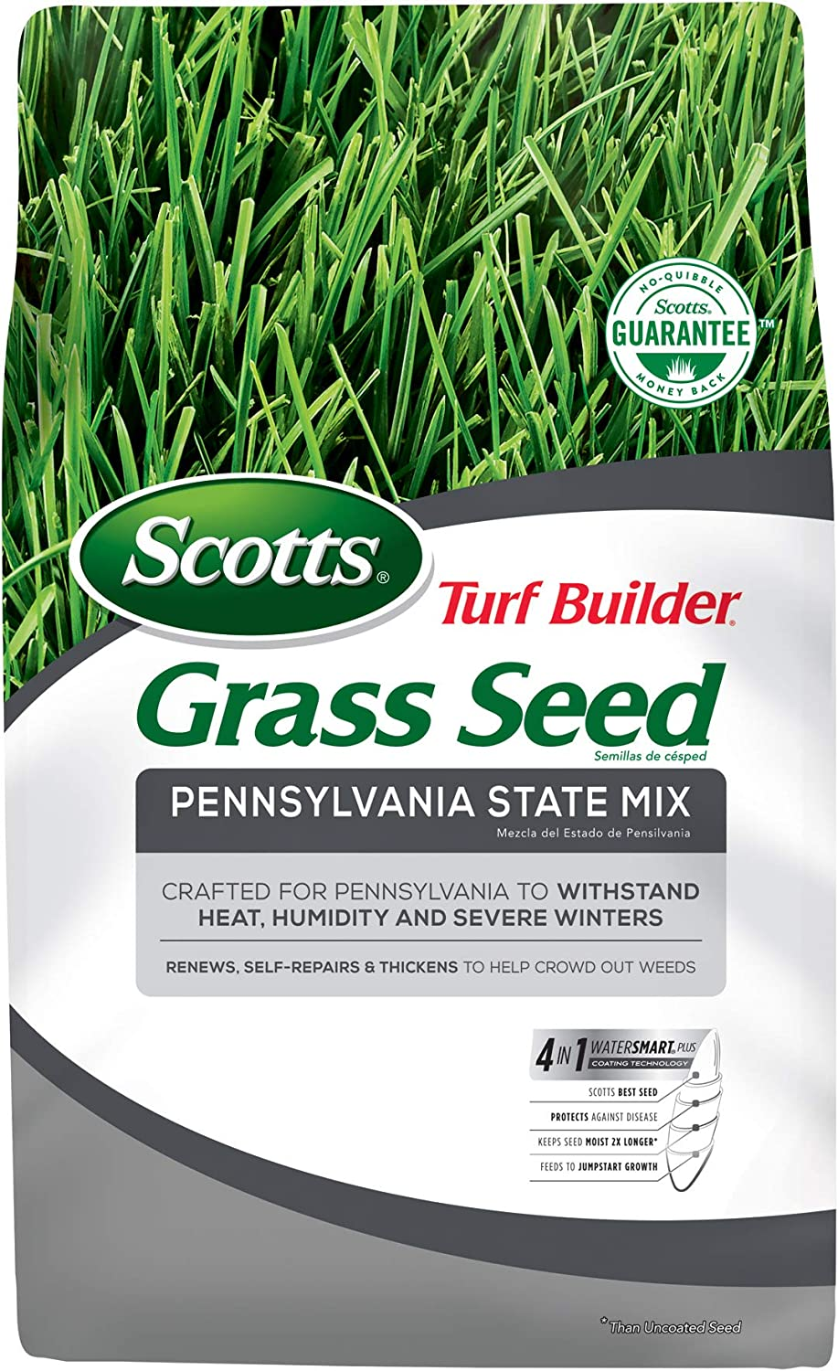 Scotts Turf Builder Grass Seed Pennsylvania - 3 55% OFF lbs. State Mix High quality new