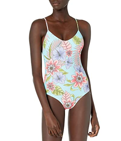 EIDON Allie One Piece Tank Style Swimsuit With Adjustable Straps