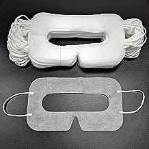一次性虚拟现实面膜 50/100 PCS 通用面膜适用于 VR、VR 眼罩面膜卫生 VR 面膜、VR 面具、白色 100 PCS 白色