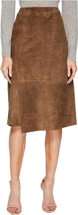 Vince - Suede Slit Skirt
