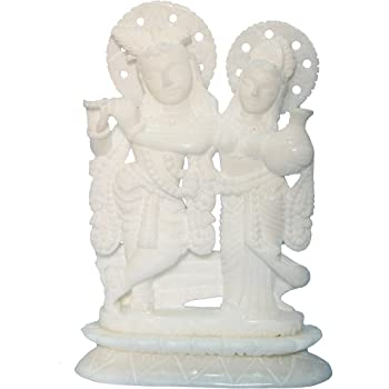 Buy Stonkraft 7 Handcrafted Indian White Marble Radha Krishna