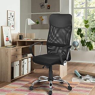 FurnitureR Silla de oficina de malla Silla de escritorio par