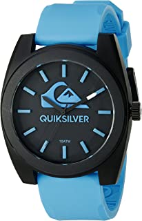 Quiksilver Men's QS/1022BLBK THE BIG WAVE Blue Silicone Strap Watch