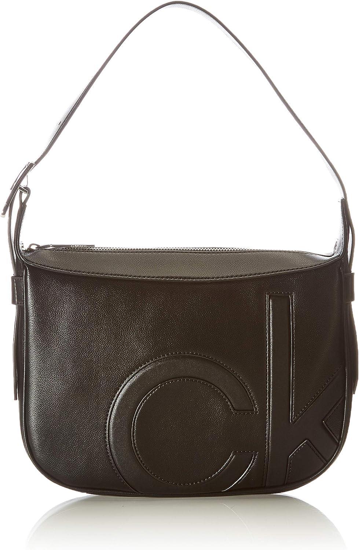 Calvin Klein Shoulder Bag, Bolsa DE Hombre MD para Mujer, Black, 28 Inches, Extra-Large