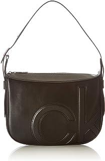 Calvin Klein Damen Shoulder Bag Umhängetasche MD, Schwarz, 28 Inches, Extra-Large