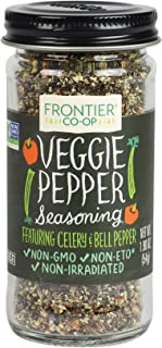 Frontier Seasoning Blends Salt-free Veggie Pepper, 1.9-Ounce Bottle