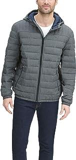 mens Water Resistant Ultra Loft Filled Hooded Puffer Jacket