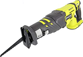 Ryobi P517 18V Lithium Ion Cordless Brushless 2,900 SPM Reciprocating Saw w/ Anti-Vibration Handle and Tool-Less Blade Changing (Battery Not Included, Power Tool Only) (Renewed)
