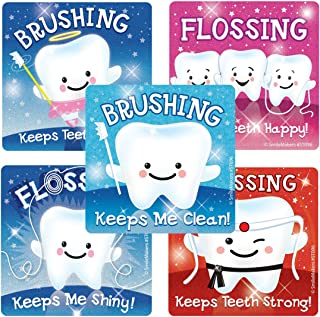SmileMakers Glitter Teeth Stickers - Prizes 75 per Pack