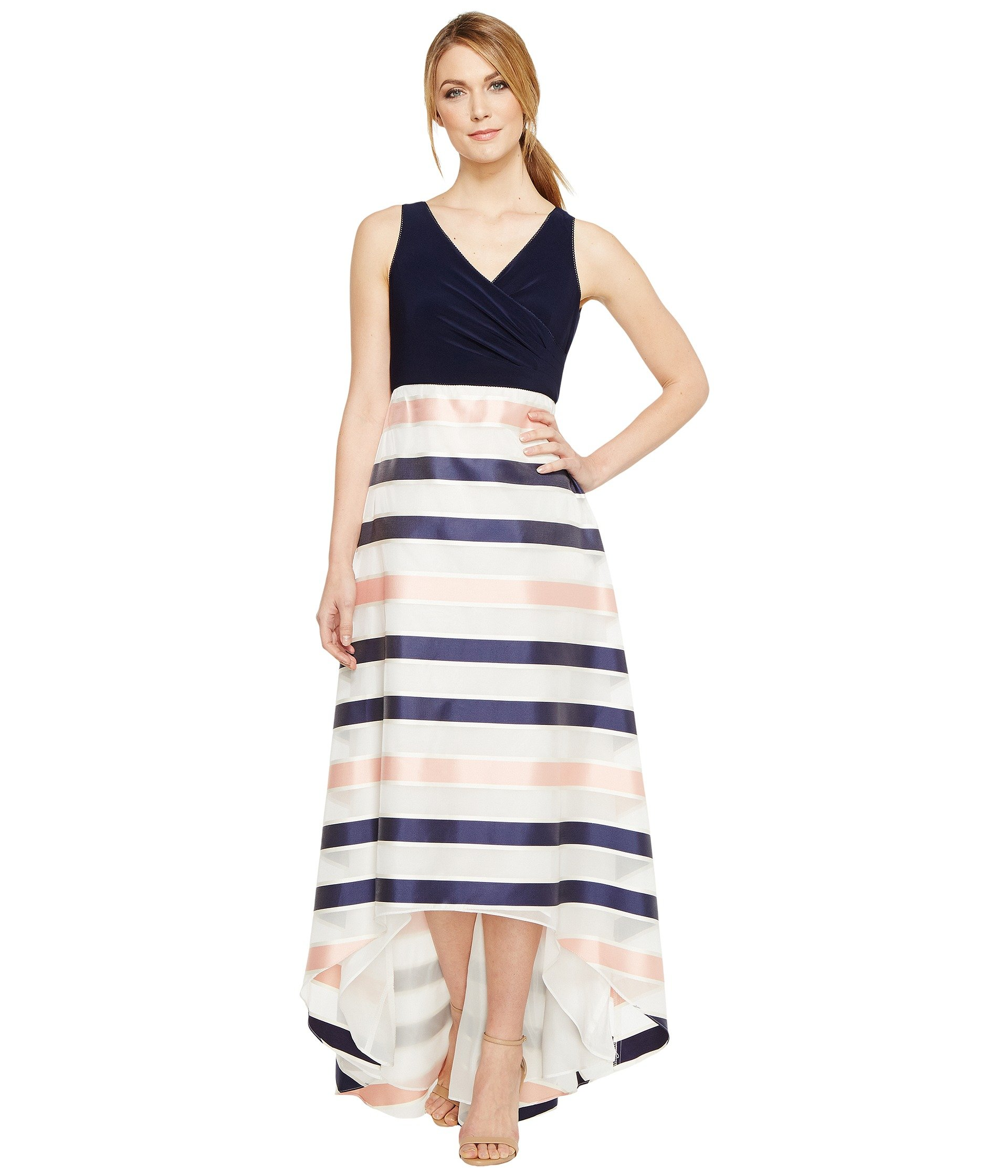 Jersey Organza Stripe Dress