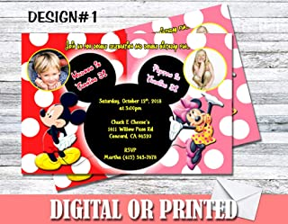 Mickey & Minnie Mouse Personalized Birthday Invitations More Designs Inside!