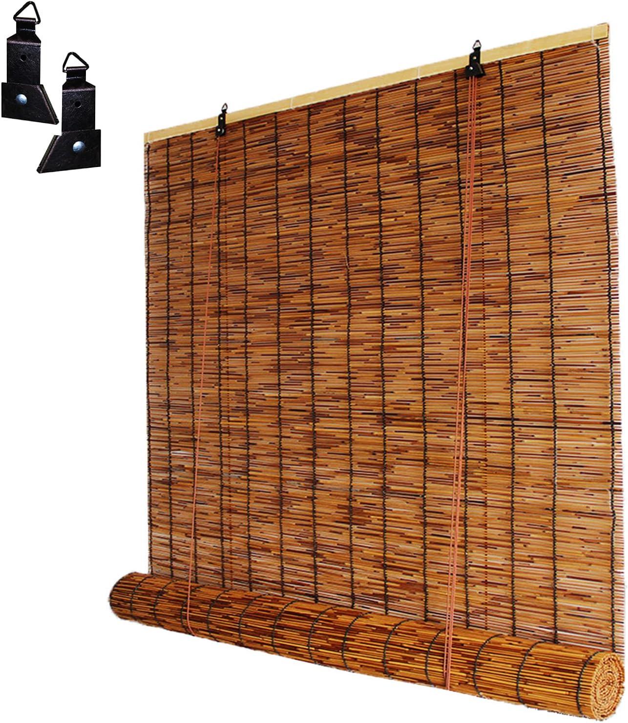 OHKKSD Bamboo Roller Shades Natural Retro Decorativ Curtain 日本最大級の品揃え 超人気 専門店 Reed