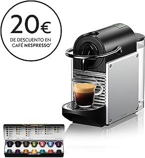 Nespresso De'Longhi Pixie EN124.S Cafetera monodosis cápsulas, 19 Bares, depósito Agua 0.7 L, Apagado automático, 1260 W, 0.7 litros, Acero, Plata