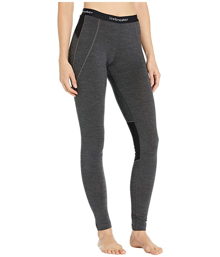 Icebreaker  260 Zone Merino Base Layer Leggings (Jet Heather/Black) Womens Casual Pants
