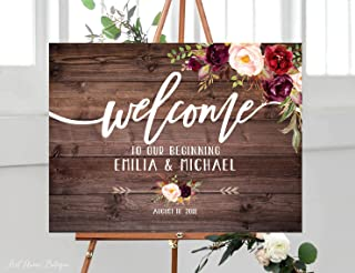 Best wood welcome sign wedding Reviews