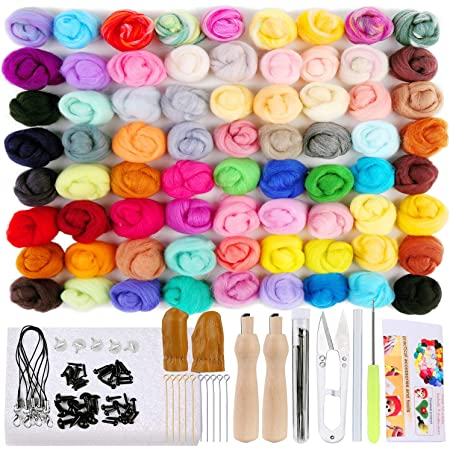 Foam Mat,Needles Finger Guards Tools Kit LoveinDIY 2Pcs Full Range of Needle Felting Kit Penguin Wool Felted Set for Adults and Beginners with Wool Roving