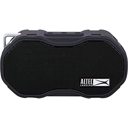 Altec Lansing Baby Boom XL Portable Bluetooth Speaker, Waterproof Portable Speaker with Deep Bass and Loud Sound, 100 Feet Bluetooth Range for Travel, Sports, Home, Parties Outdoors… (Black)