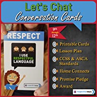 Social Emotional Learning - Respect - I Use Respectful Language Conversation Cards - High School