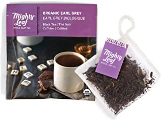 Mighty Leaf Tea Organic Early Grey Tea Pouches, 100 Count Black Tea Bags in Individual Foil Packs, USDA Organic