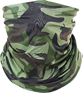 Cloth Face Mask Reusable Protection from Dust, UV & Aerosoles, Neck Gaiter Balaclava, Bandana Face Cover UPF50++ (Camo)
