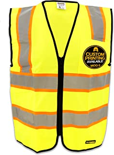KwikSafety ATHLETE | Class 2 Safety Contrasting Construction Vest | 360° High Visibility Reflective ANSI Compliant Work Wear | Hi Vis Yellow Heavy Duty Zipper Chest Pocket | Men Women Slim Fit | Small
