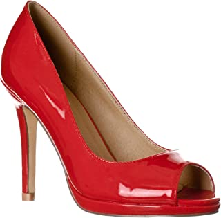 Women's Julia Slight Platform Open Toe High Heel Pumps