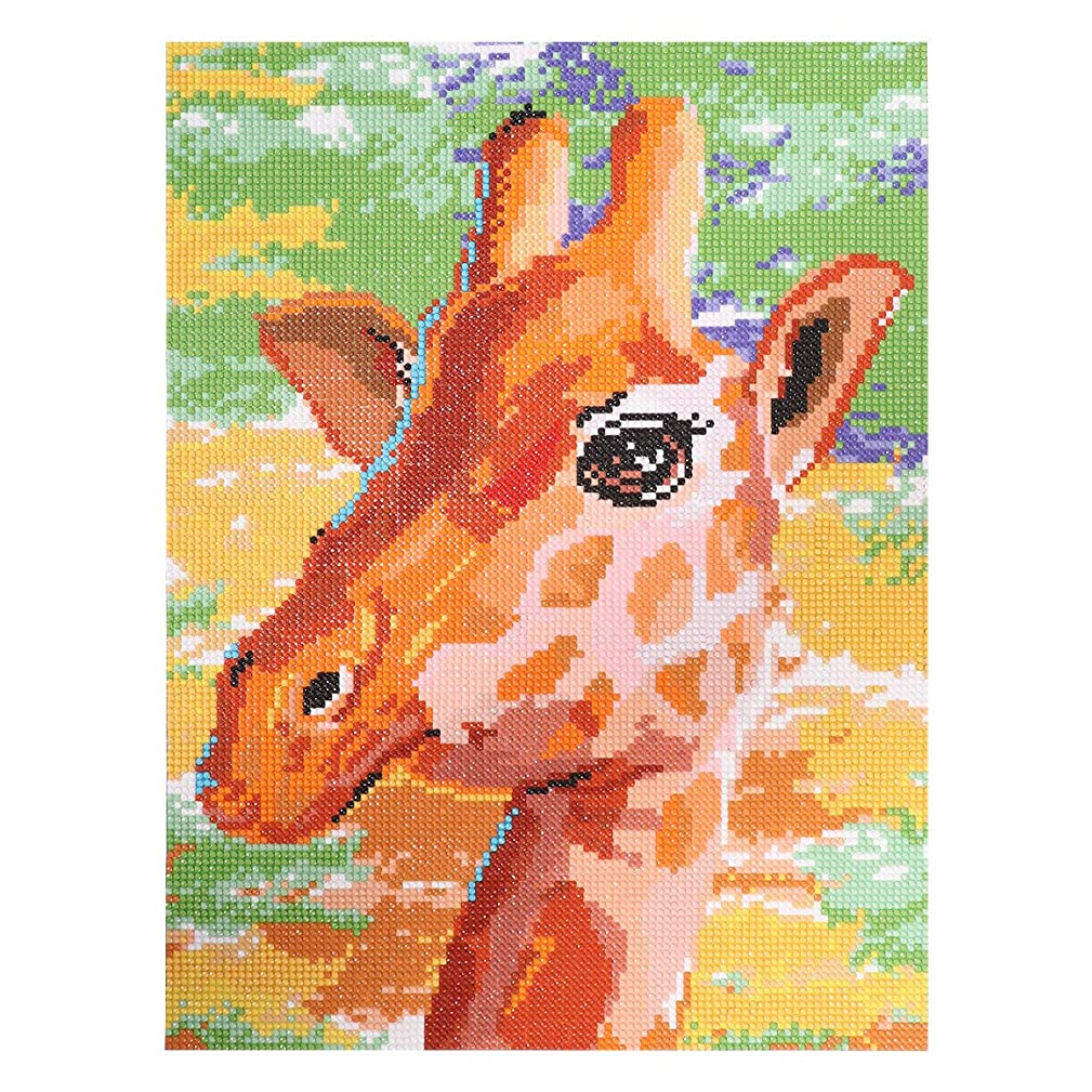 ULTNICE 5D DIY Diamond Painting Kit Full Drill Giraffe Embroidery Cross Stitch Craft Wall Stickers 40x30CM (Fully-Jewelled)