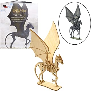 Harry Potter Thestral Book and 3D Wood Model Figure Kit - Build, Paint and Collect Your Own Wooden Toy Model - Great for Kids and Adults, 8+ - 7 1/2