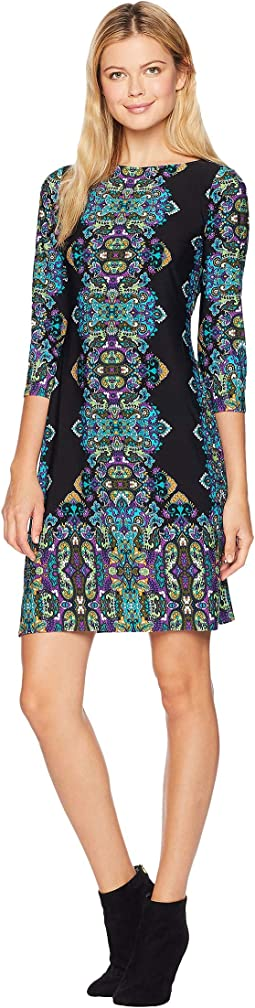 Jewel Box Matte Jersey Shift Dress