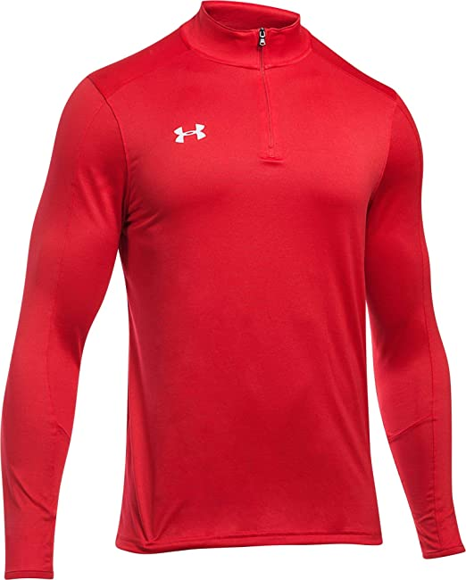 Under Armour AF 1//4 Zip Mens Training Top Green Long Sleeve Sports Jersey UA