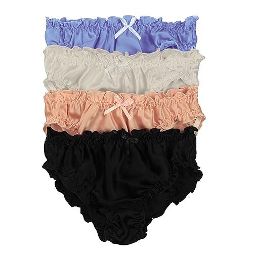 0a95f04bbaf0 Paradise Silk Pure Silk Women's Flouncing Panties Economic Pack (Pack of ...