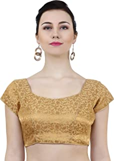 ND&R Womens readymade fully stitch saree blouse color golden