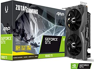ZOTAC GeForce GTX 1660 Ti AMP 6GB GDDR6 192-bit Gaming Graphics Card, Super Compact, IceStorm 2.0 Cooling Model ZT-T16610D...