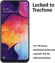 Tracfone Samsung Galaxy A50 4G LTE Prepaid Smartphone (Locked) - Black - 64GB - Sim Card Included - CDMA